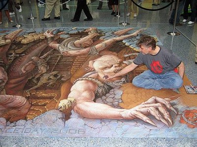 julien beever 3d art street graffiti