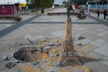 julien beever foto arte street 3d