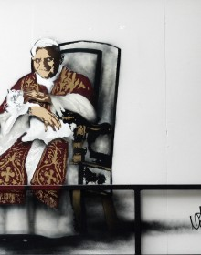 Pope Art Graffiti Nick Walker