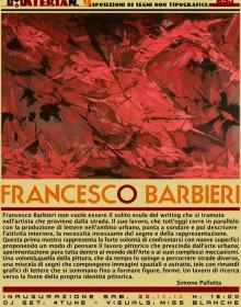 Francesco Barbieri - materia