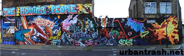 The Rolling People Graffiti East London londra graffiti