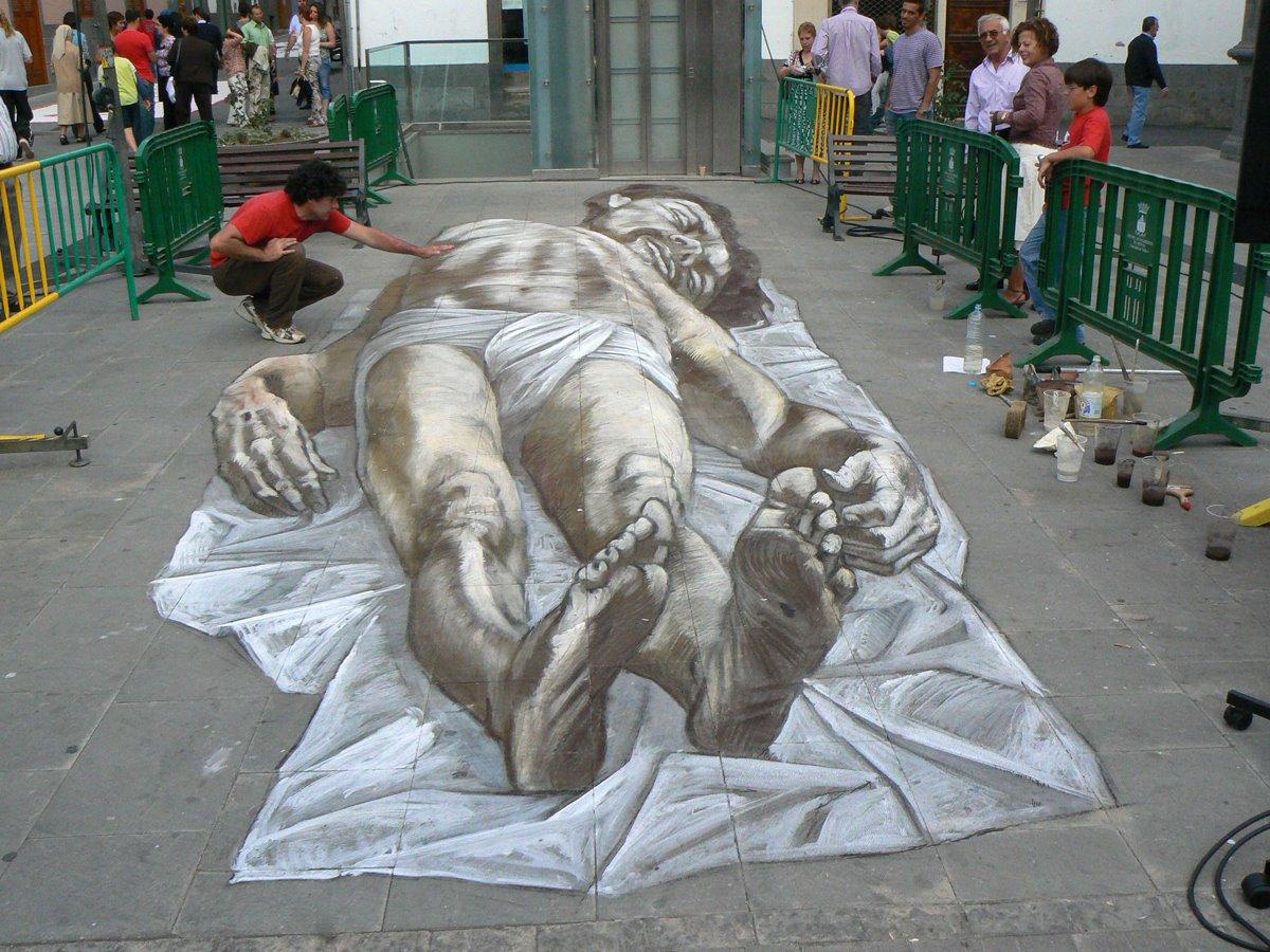 1200 900 Eduardo Relero 路上の3dトリックアート作品の壁紙画像集